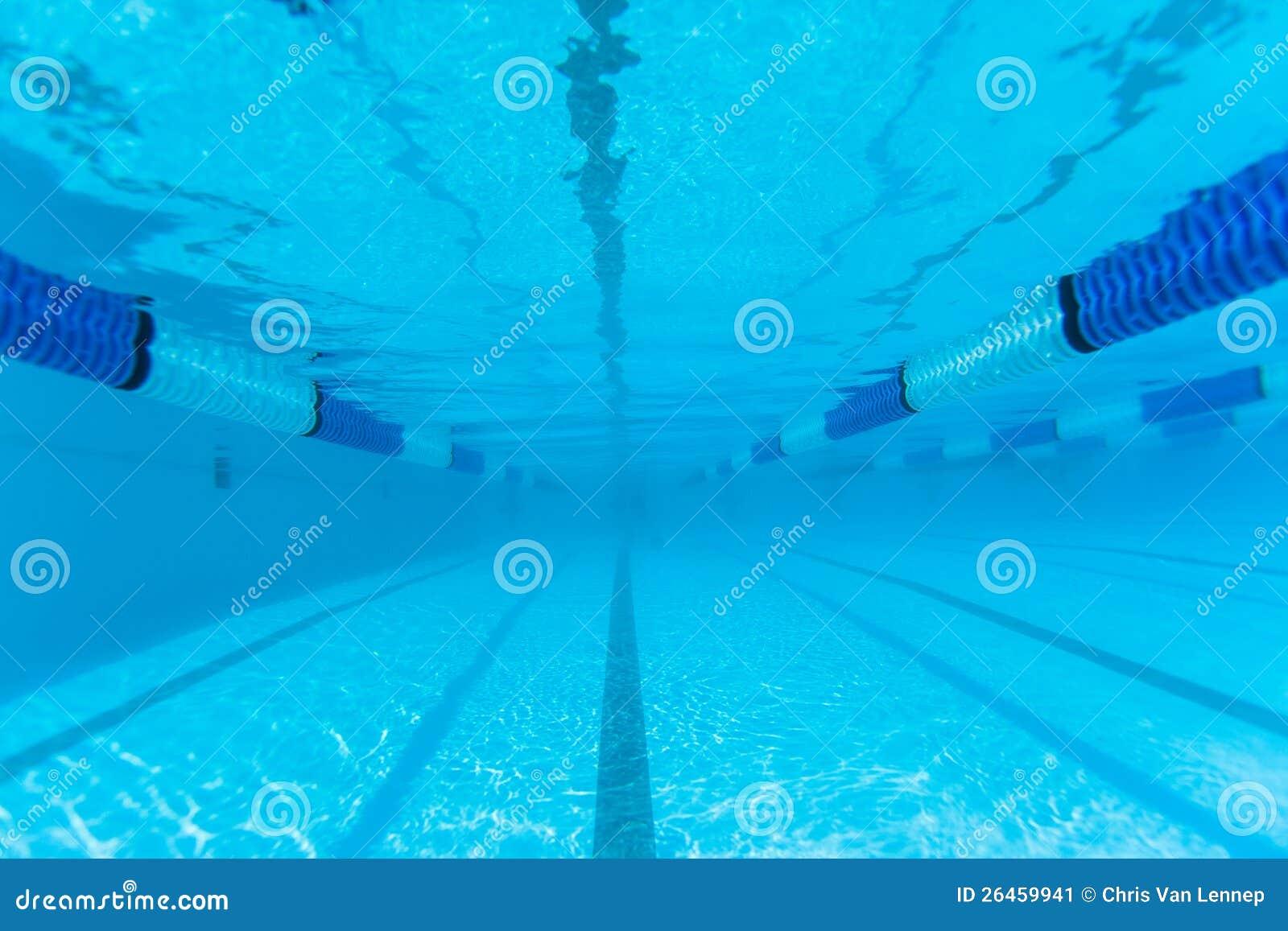 Swimming Pool Lane Underwater Stock Image Image 26459941