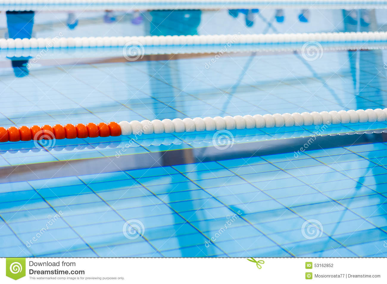 Swimming Pool Lanes Stock Photo Image 53162852