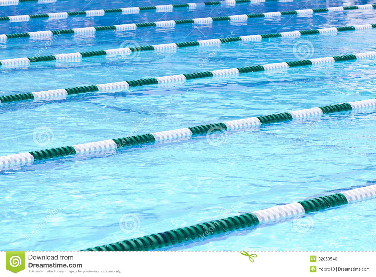 Swimming Pool Lanes Stock Photo Image 32053540