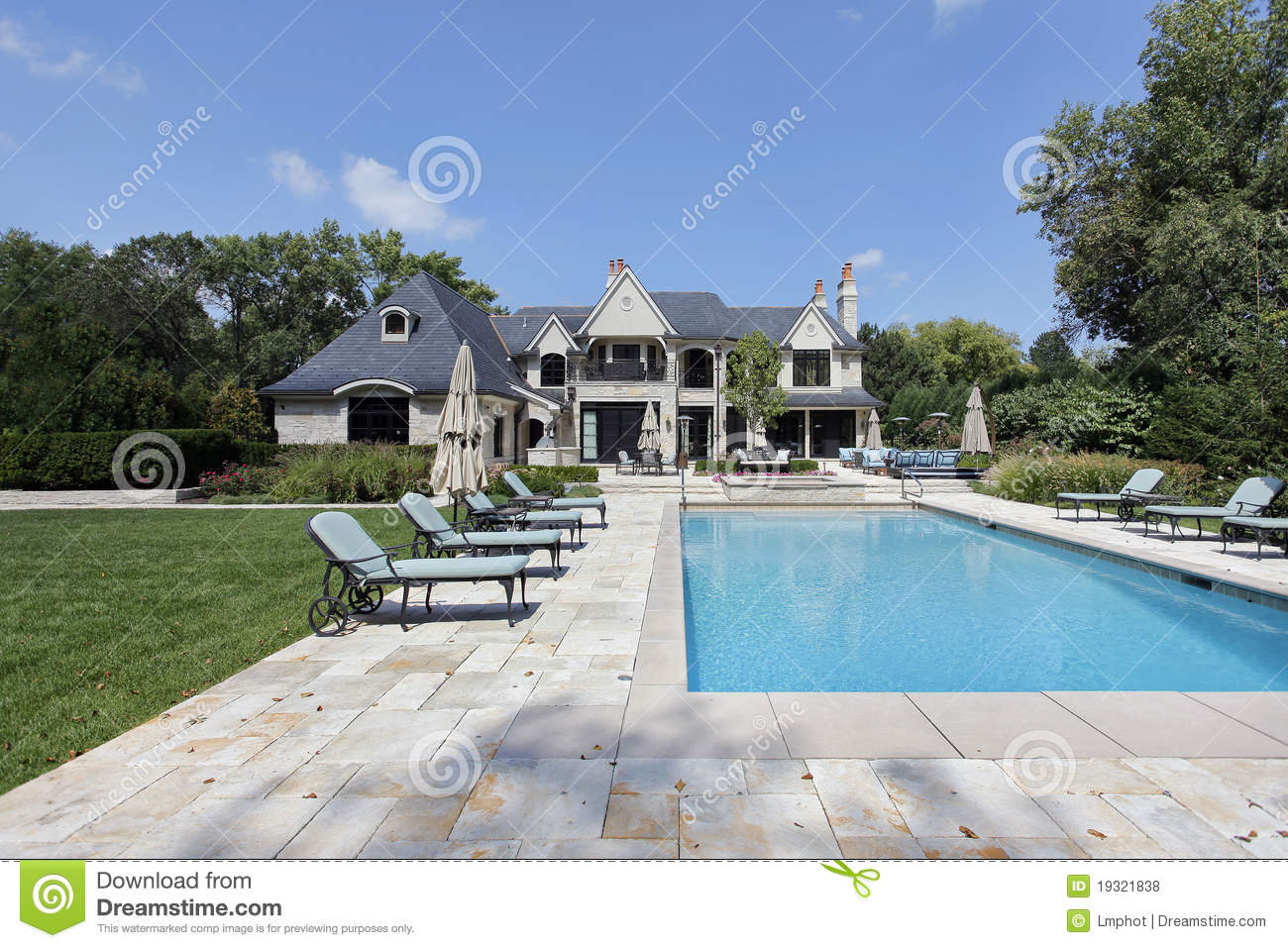 Swimming pool with large deck royalty free stock photos for Big outdoor pool