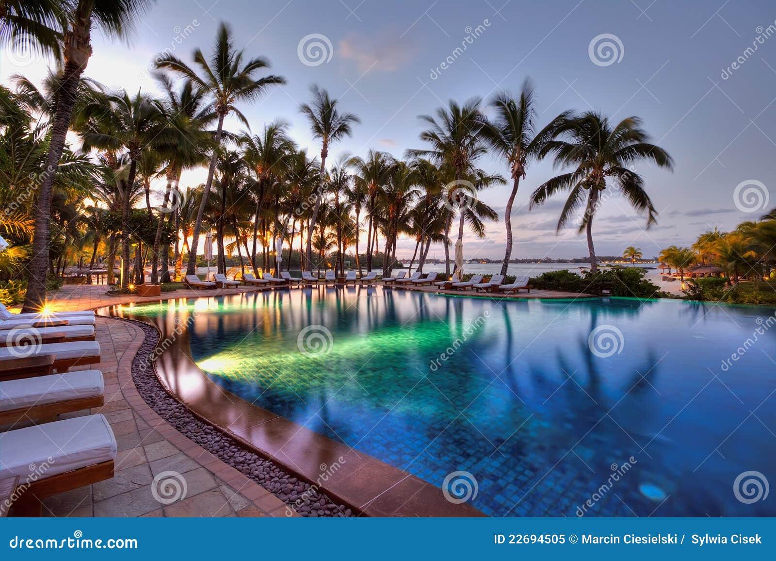 Swimming pool at le touessrock mauritius editorial image for Swimming pool mauritius