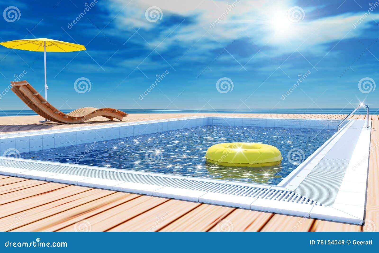 Beach Umbrella Parasol Sun Vacation Vector Illustration