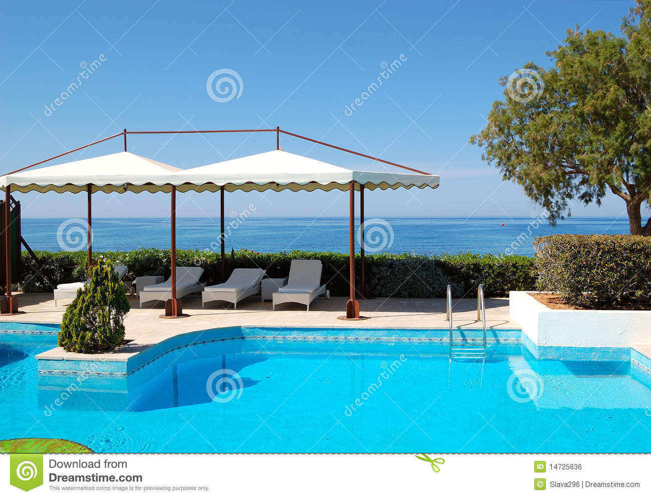Swimming Pool At Luxury Hotel Royalty Free Stock Image Image 14725636