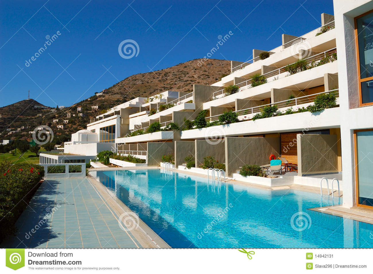 Swimming Pool At Luxury Hotel Stock Image Image 14942131