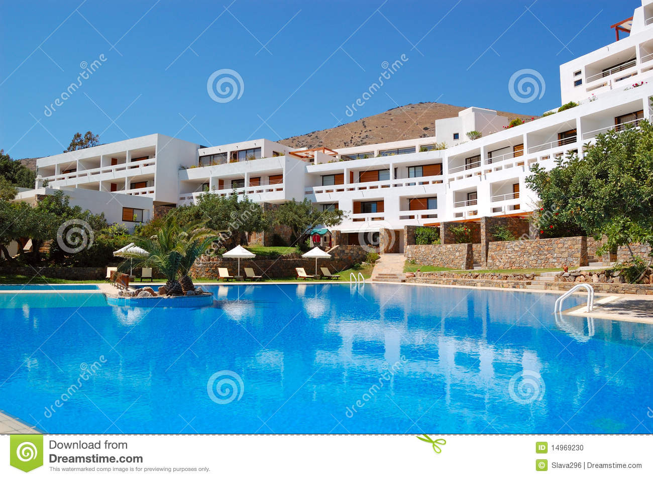 Swimming Pool At Luxury Hotel Stock Photo Image 14969230