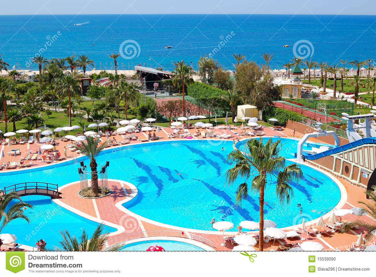 Swimming Pool At Luxury Hotel Stock Photo Image 15539090
