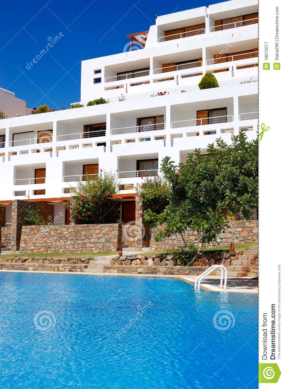 Swimming Pool At Luxury Hotel Royalty Free Stock Photography Image 18610017