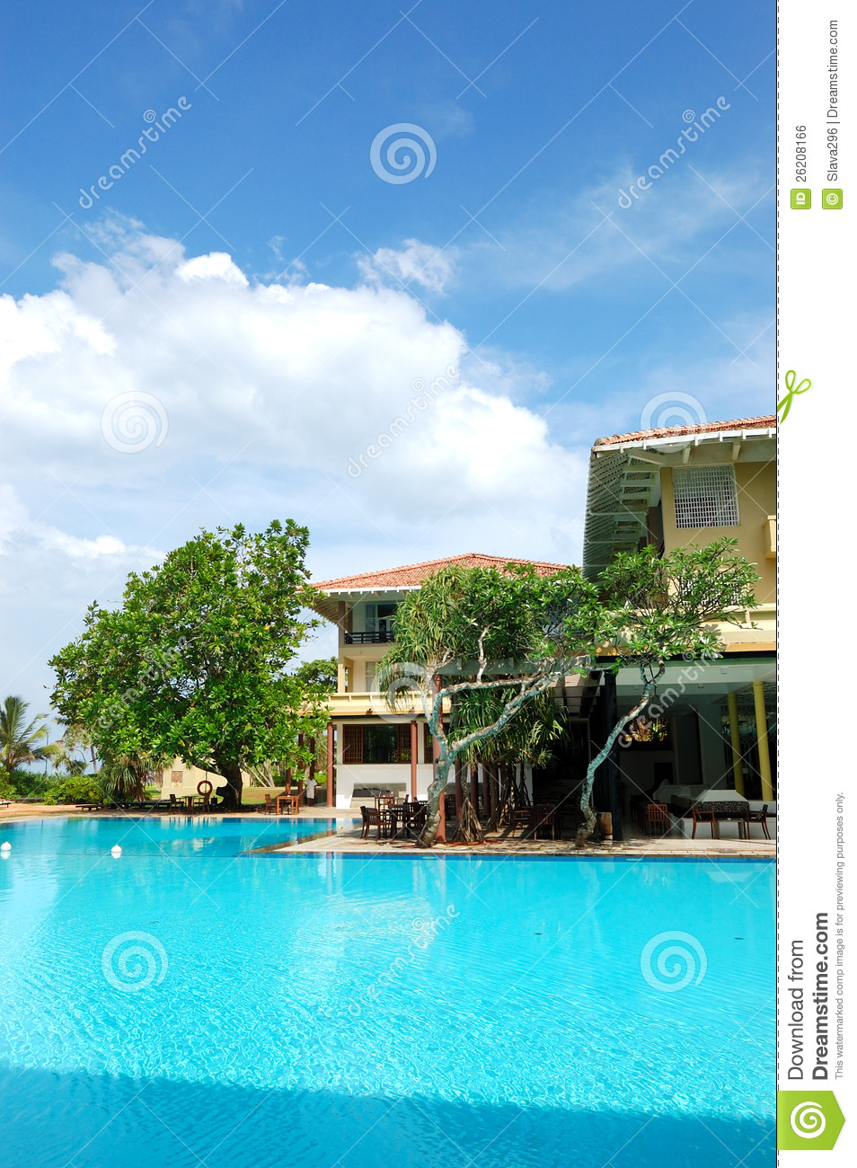 The Swimming Pool At Luxury Hotel Royalty Free Stock Image Image 26208166