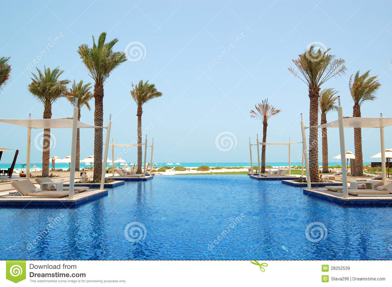 Swimming Pool Of The Luxury Hotel Royalty Free Stock Images Image 28252539