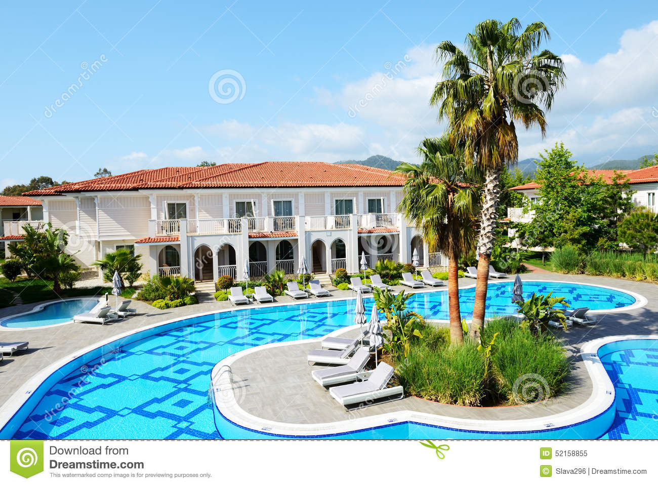 Swimming Pool At Luxury Hotel Stock Photo Image 52158855