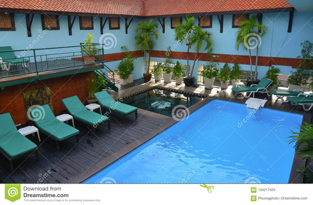Swimming Pool Of Luxury Hotel Editorial Stock Image Image Of Round