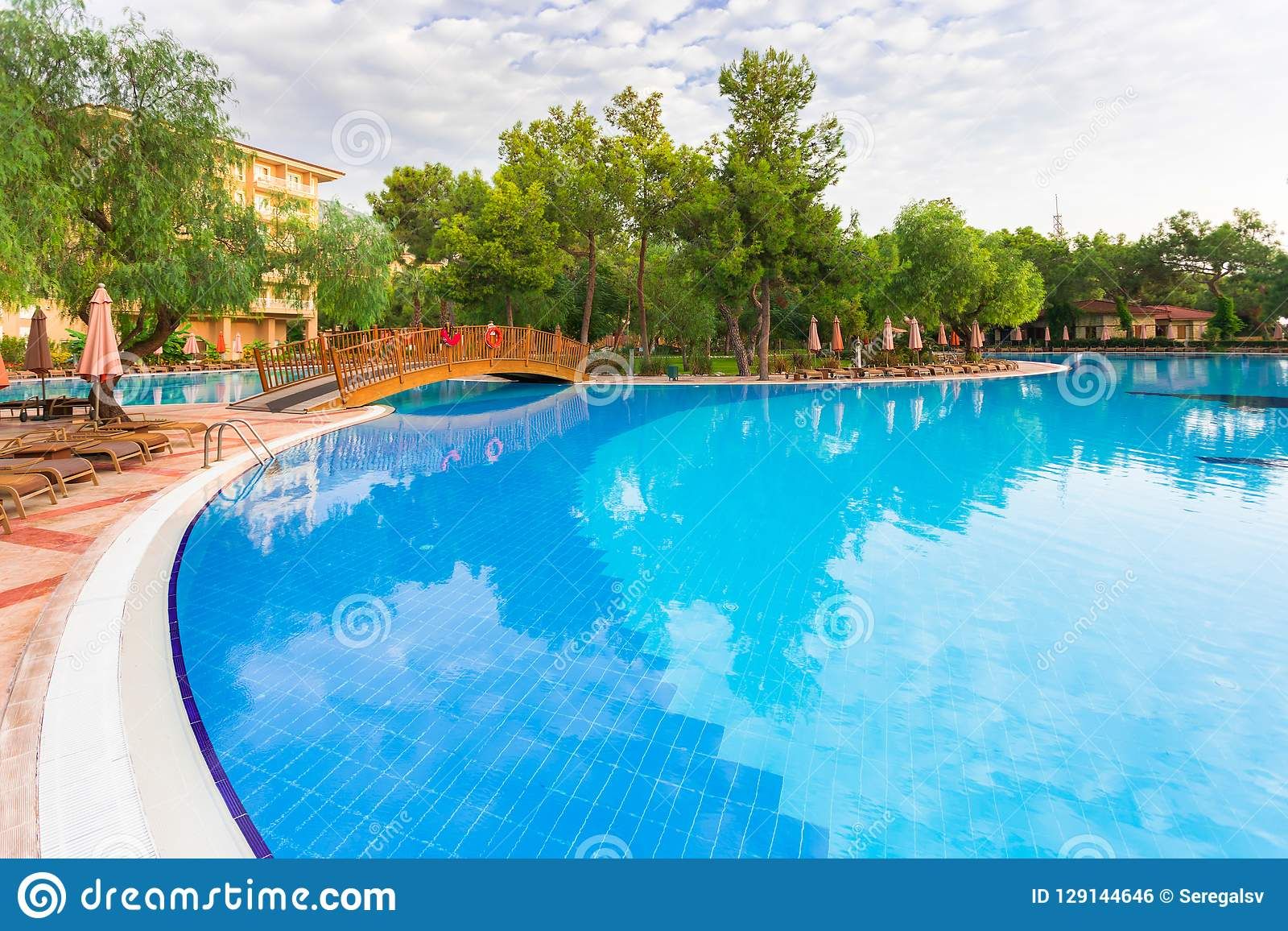 Swimming Pool Of Luxury Hotel Stock Photo Image Of Swimming