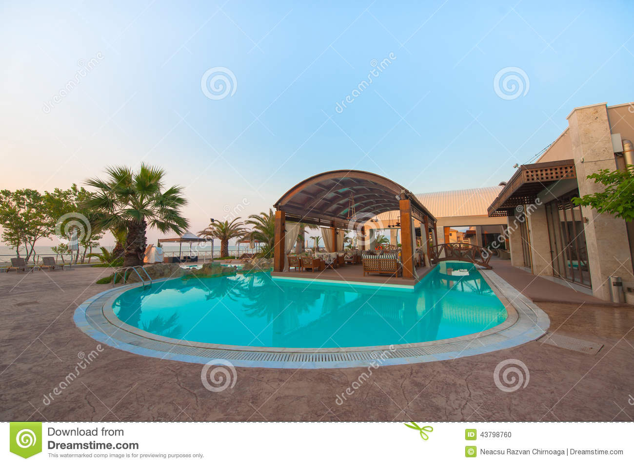 Swimming Pool Of Luxury Hotel Editorial Image Image 43798760