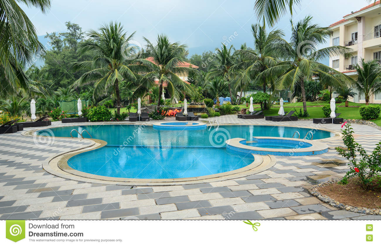 Swimming Pool At The Luxury Hotel In Phu Quoc Vietnam Editorial