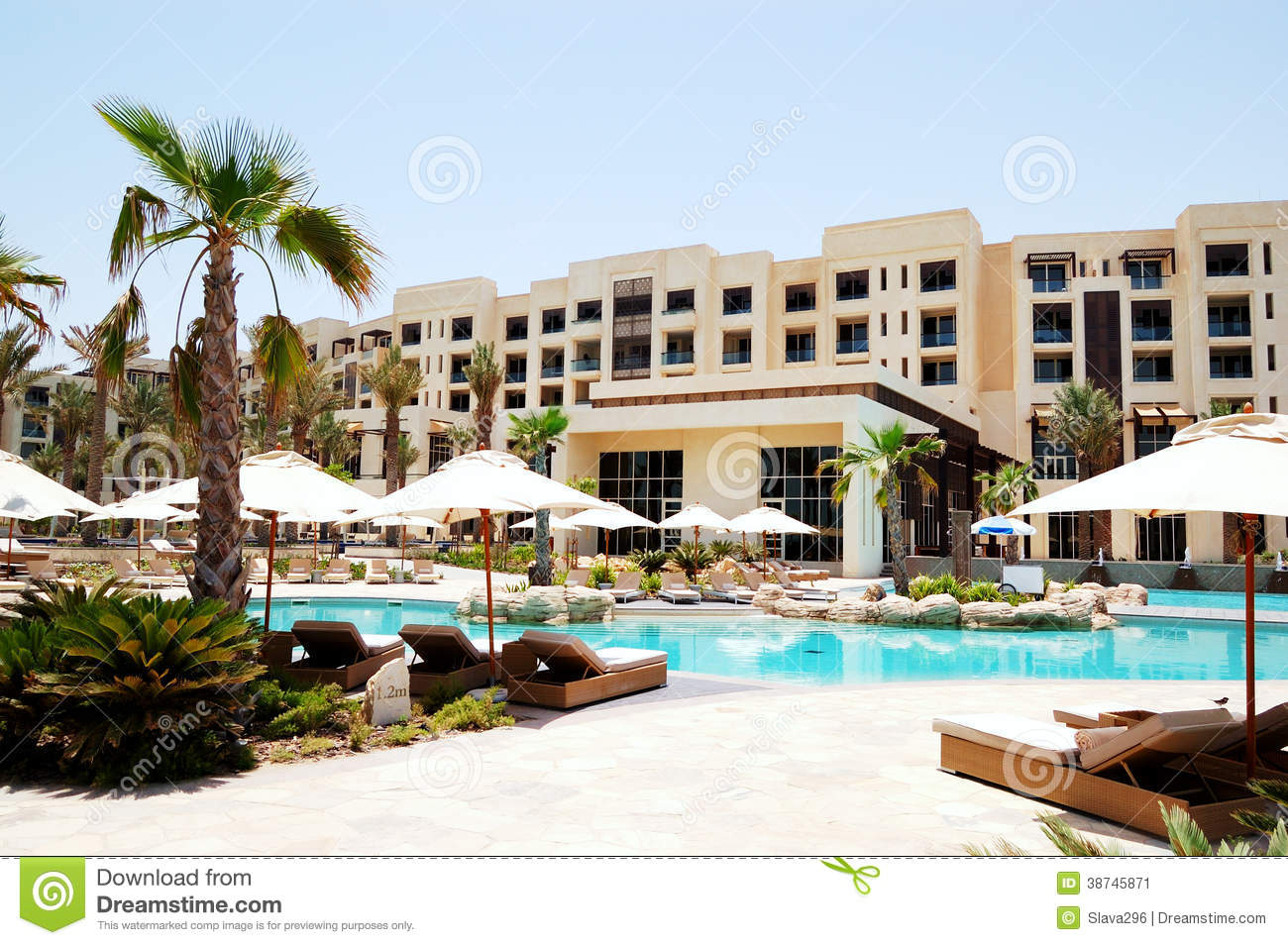 Swimming Pool At The Luxury Hotel Stock Image Image 38745871