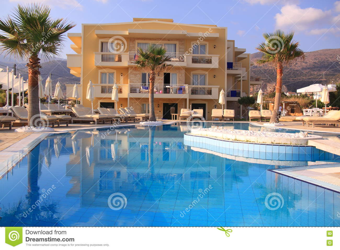 Luxury Resort With Pool Royalty Free Stock Photo 13155825