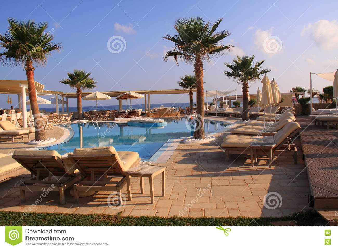 Swimming Pool Luxury Resort Editorial Image Image 76154595