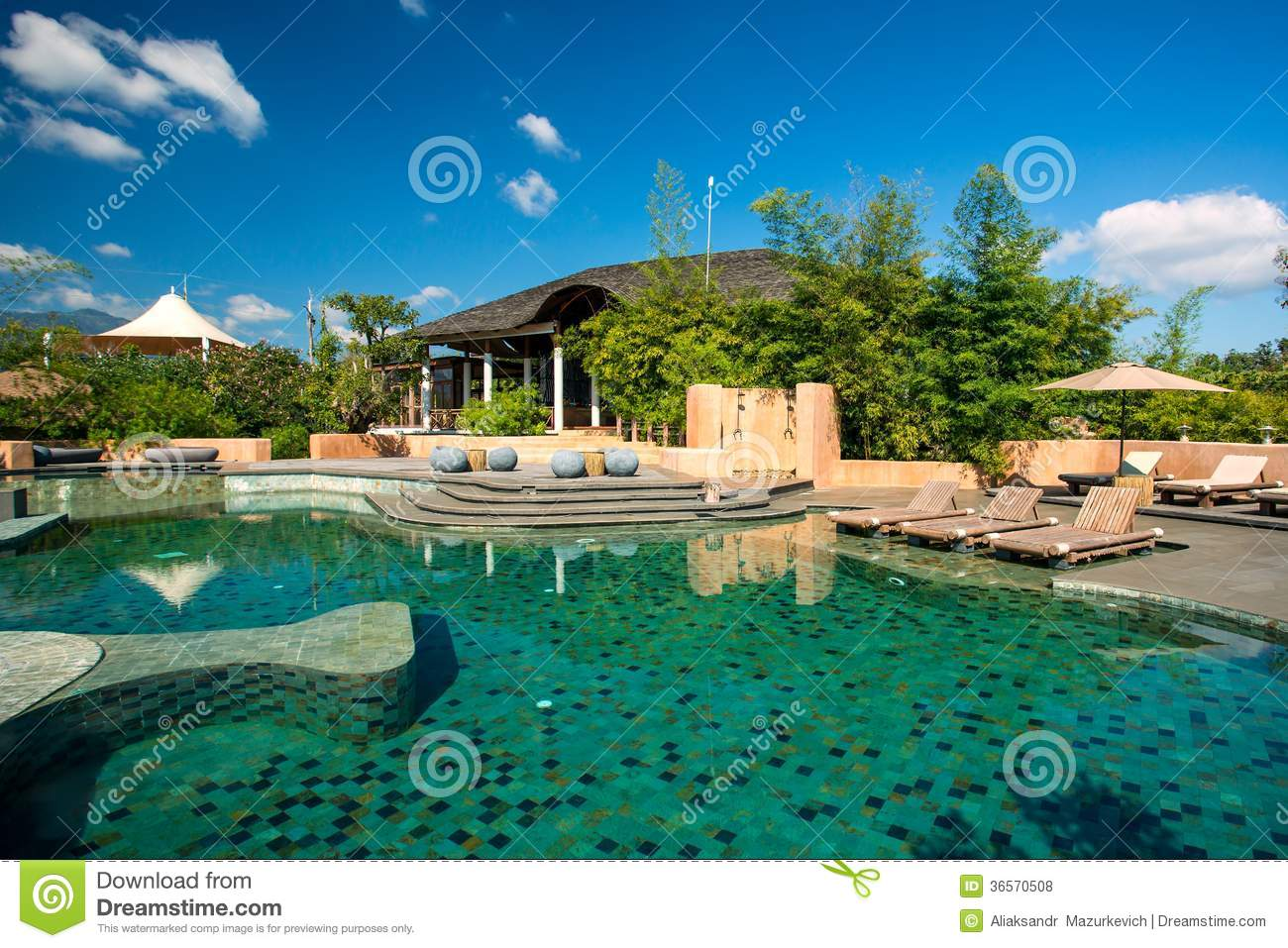 Swimming Pool In The Luxury Resort Royalty Free Stock Photos Image 36570508