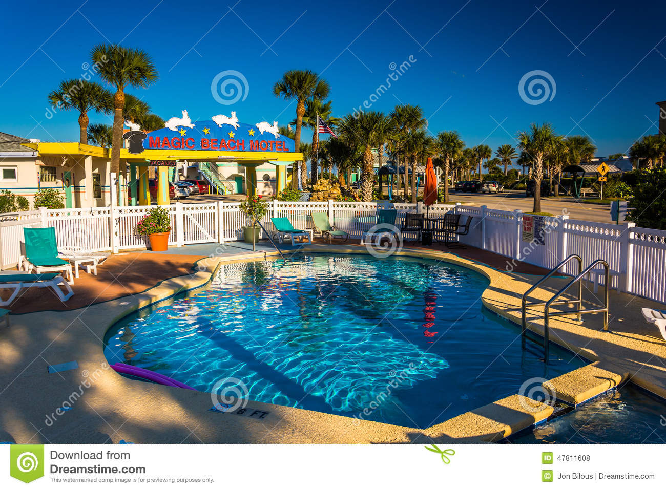 Swimming Pool At The Magic Beach Hotel In Vilano Beach Florida Stock Photo Image 47811608