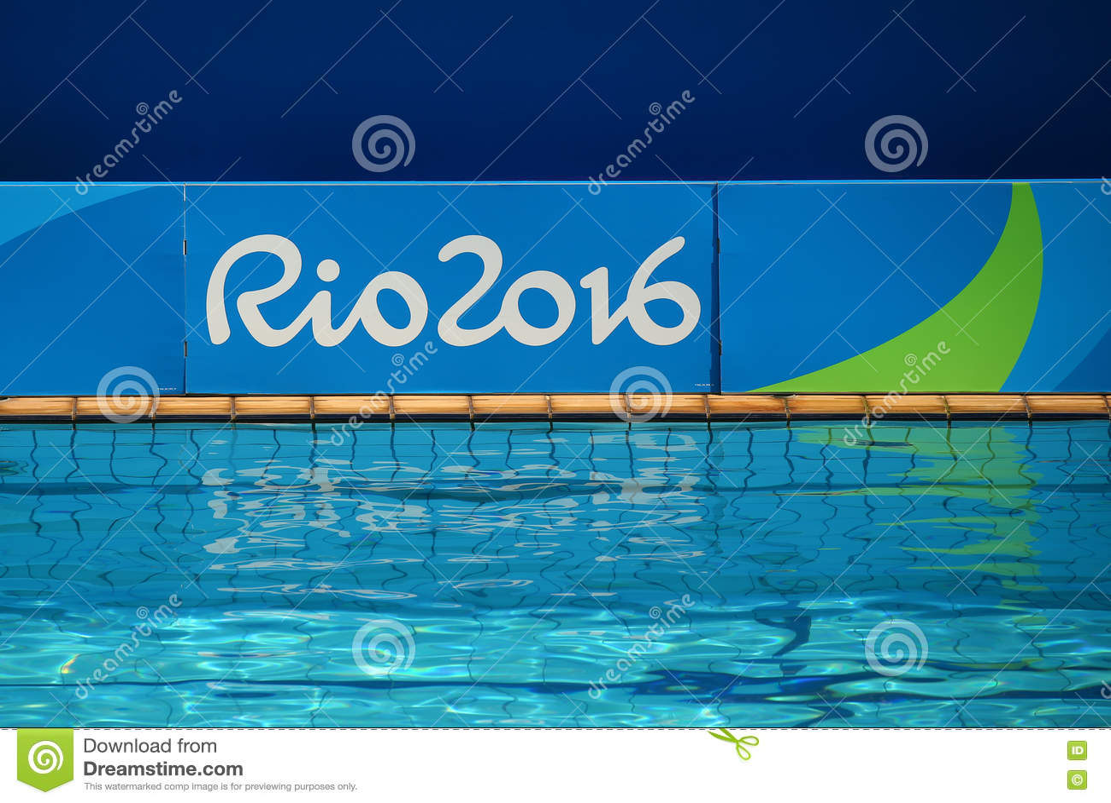Swimming pool at the Maria Lenk Aquatics Centre during Rio 2016 Olympic Games