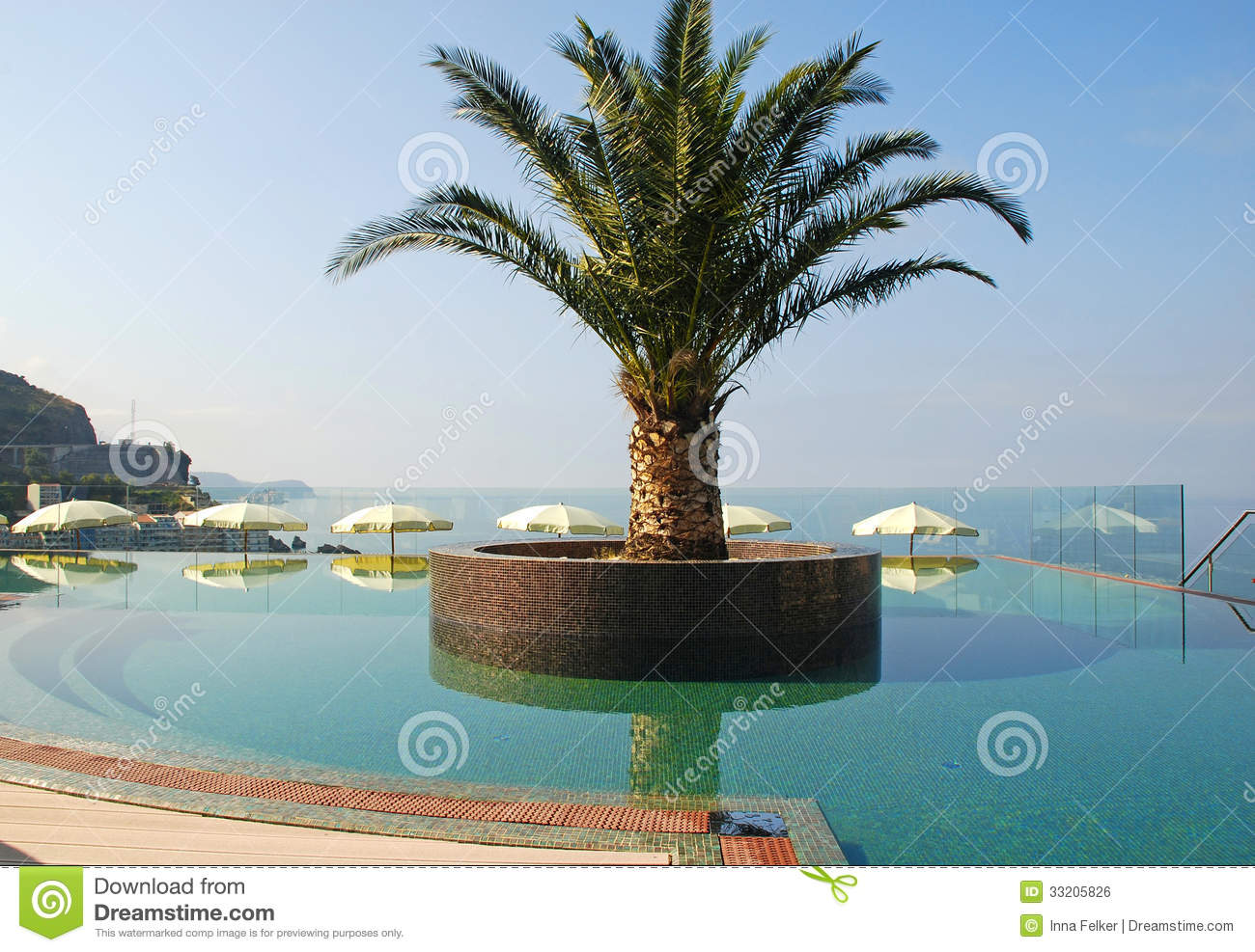 Swimming Pool And Mediterranean Sea View Royalty Free Stock Image Image 33205826