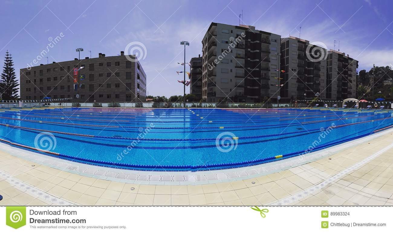Swimming pool stock photo image of swimming pool olympic 89983324 for How many meters is a swimming pool