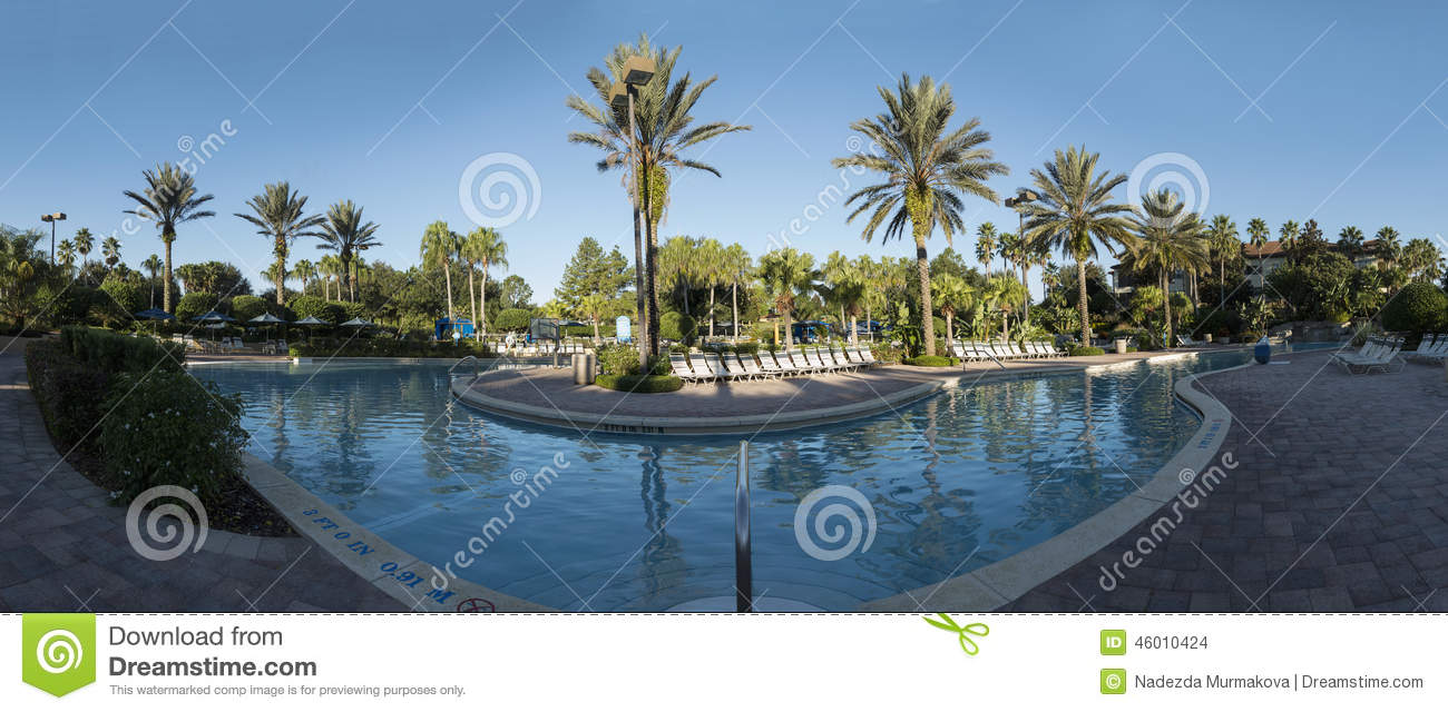 Swimming Pool Morning Panorama View Orlando Stock Photo Image 46010424