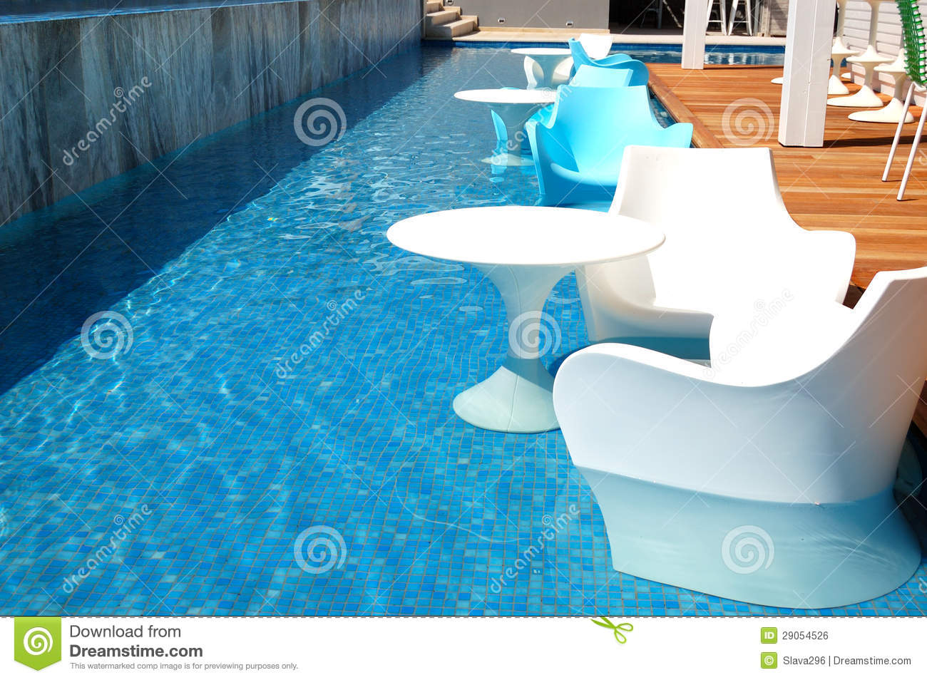 Swimming Pool Near Bar At The Modern Luxury Hotel Stock Photo Image 29054526