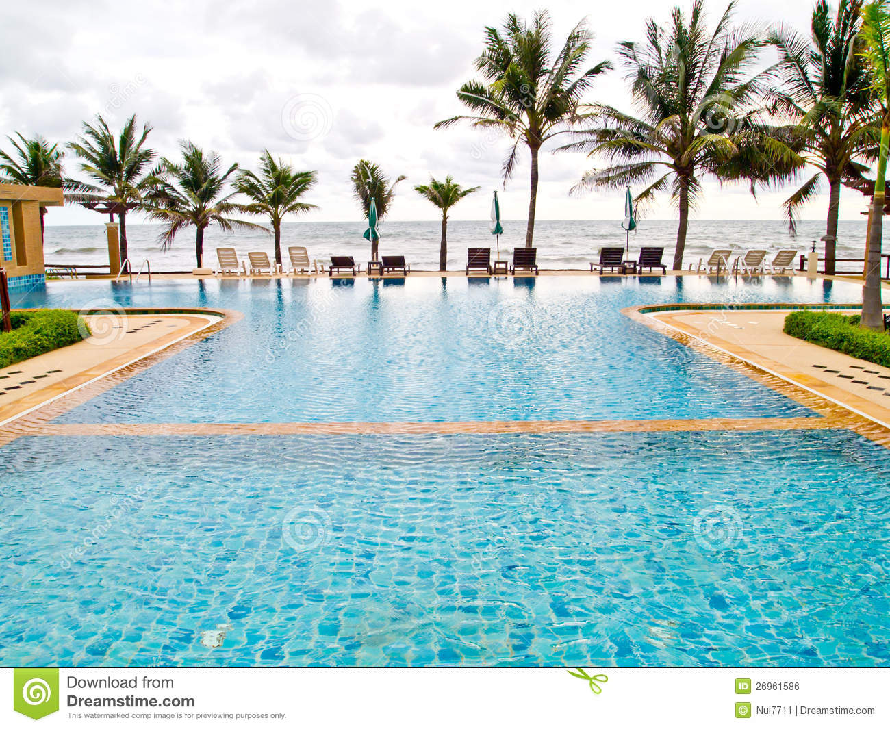 Swimming Pool Near The Beach Royalty Free Stock Image