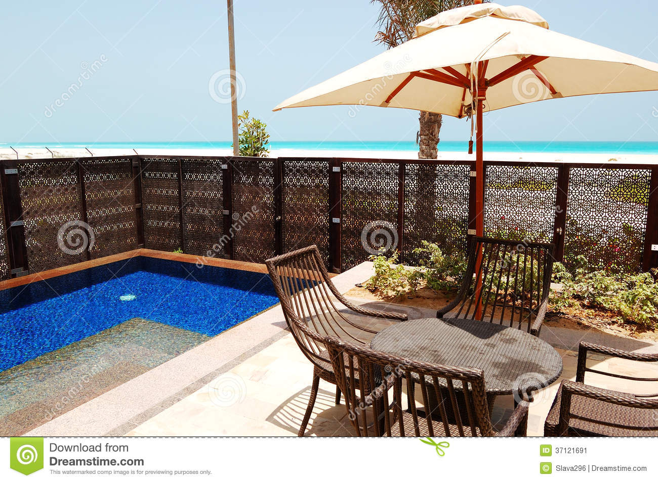 Swimming Pool Near Beach Of The Luxury Hotel Stock Image Image 37121691