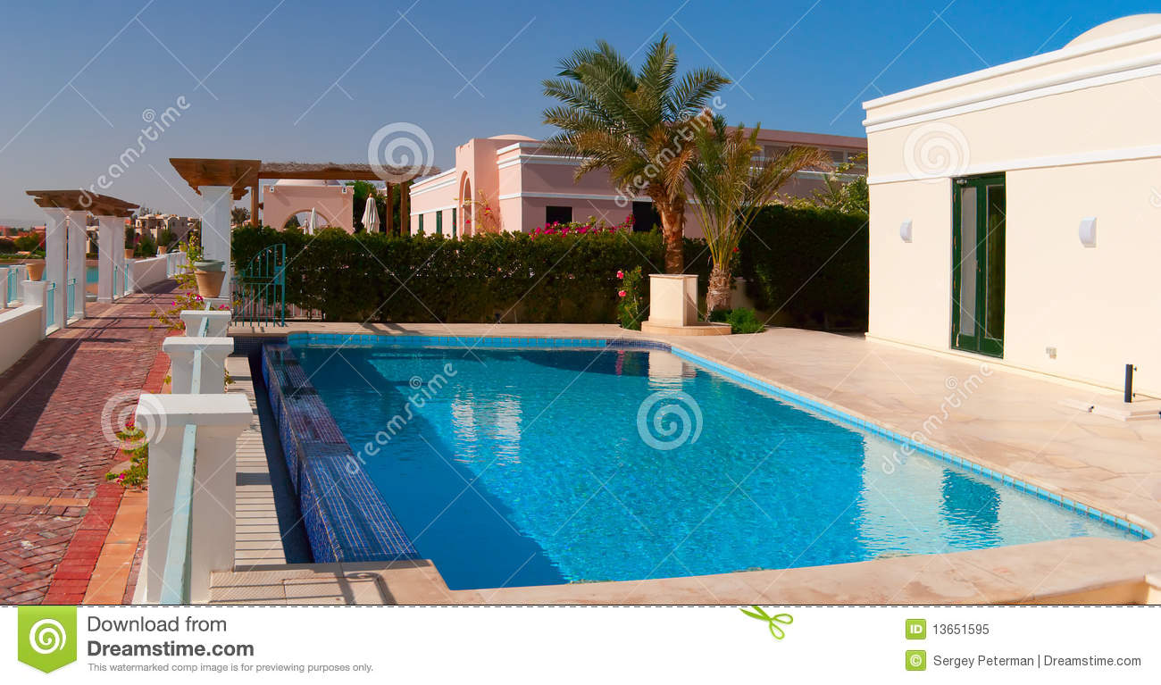 Swimming pool near the house royalty free stock photo for Swimming pool close to house