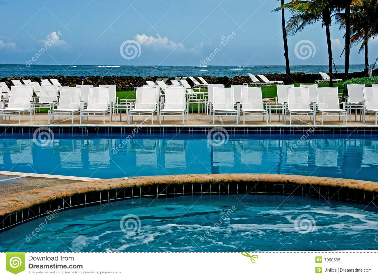 Swimming Pool Near Ocean Royalty Free Stock Photo Image 7960595