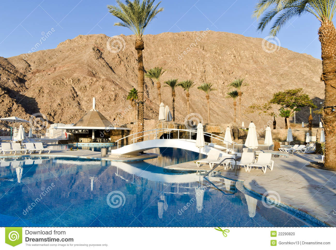 A Swimming Pool Near Resort Hotel Eilat Israel Stock Photo Image 22290820