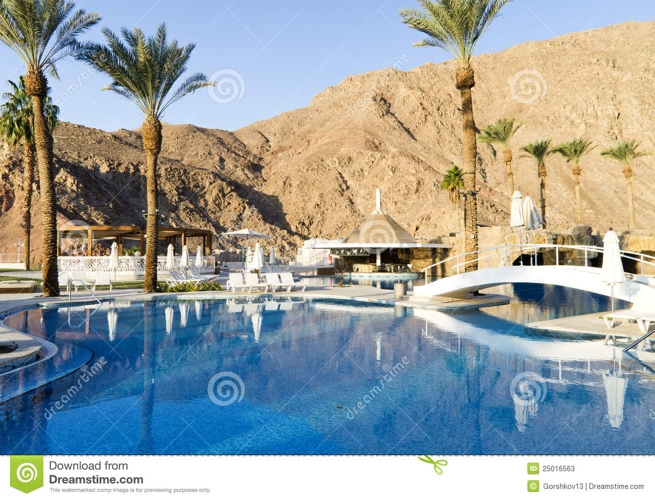 Swimming pool near resort hotel eilat israel stock photos image 25016563 for Hotels in jerusalem with swimming pool