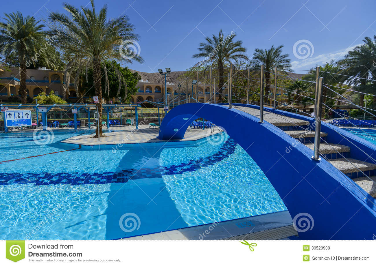 Swimming pool near resort hotels eilat israel royalty free stock photos image 30520908 for Hotels in jerusalem with swimming pool