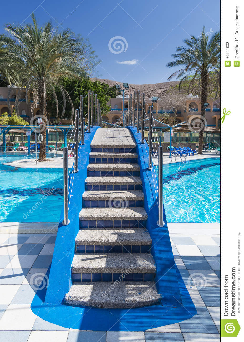 Swimming pool near resort hotels eilat israel stock photography image 30521802 for Hotels in jerusalem with swimming pool