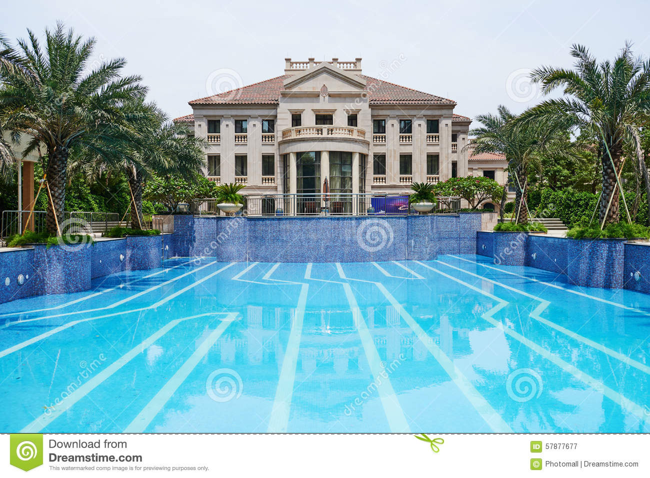 Swimming Pool Stock Image Of Cement Mosaic Architecture