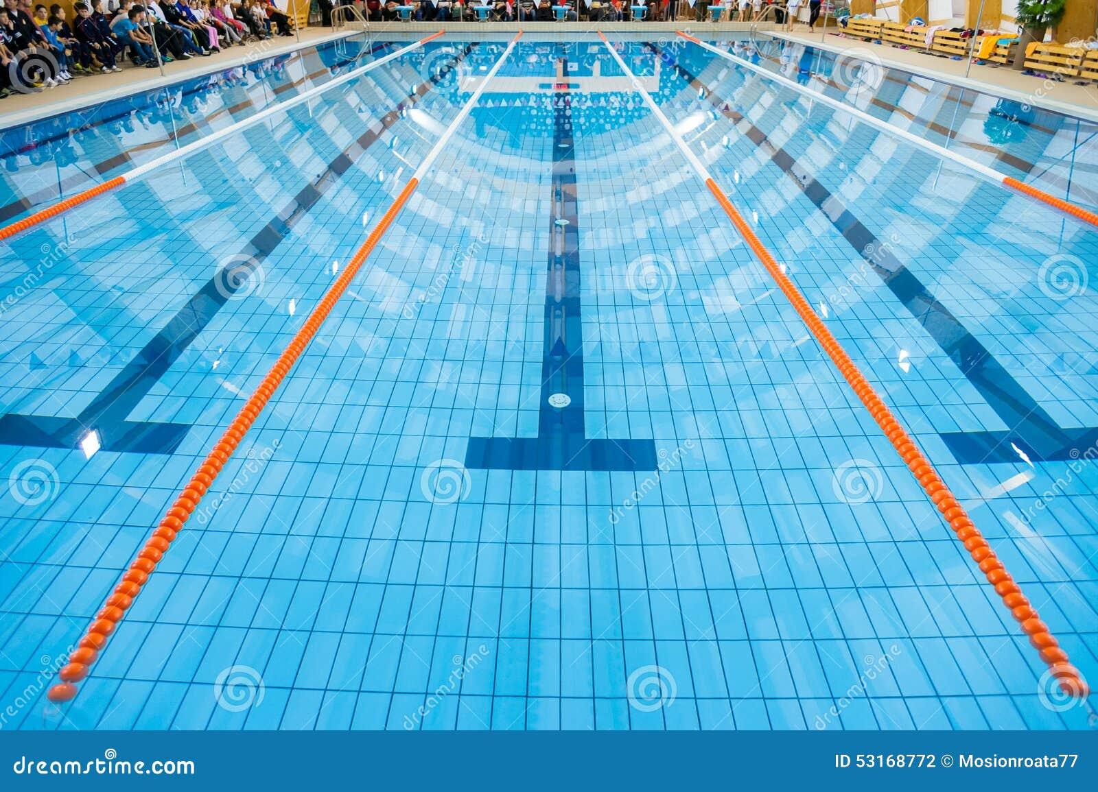 Swimming pool stock photo image 53168772 - Olympic swimming pool lanes ...