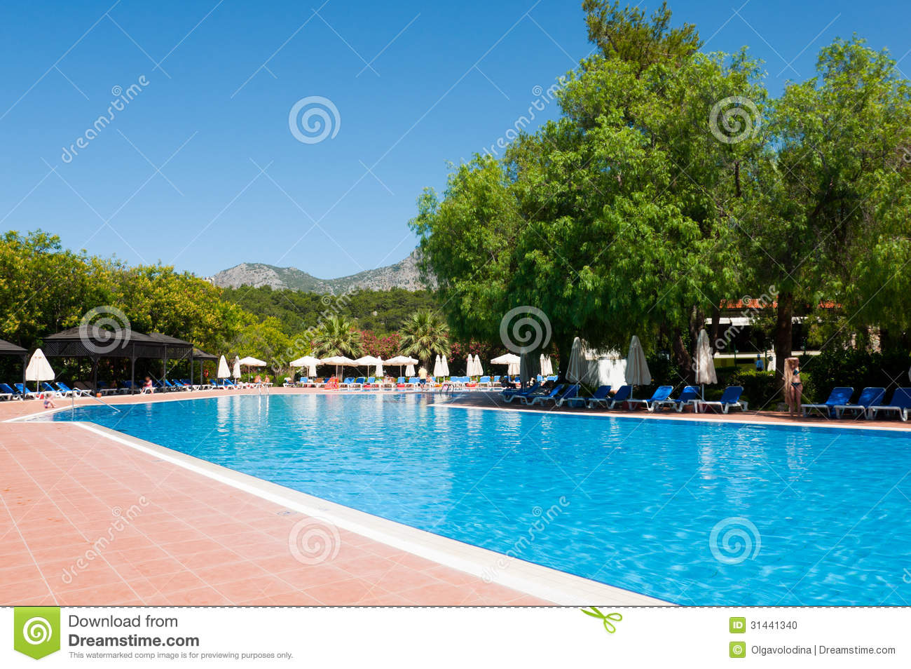 Swimming Pool In Open Air Turkey Stock Photo Image 31441340