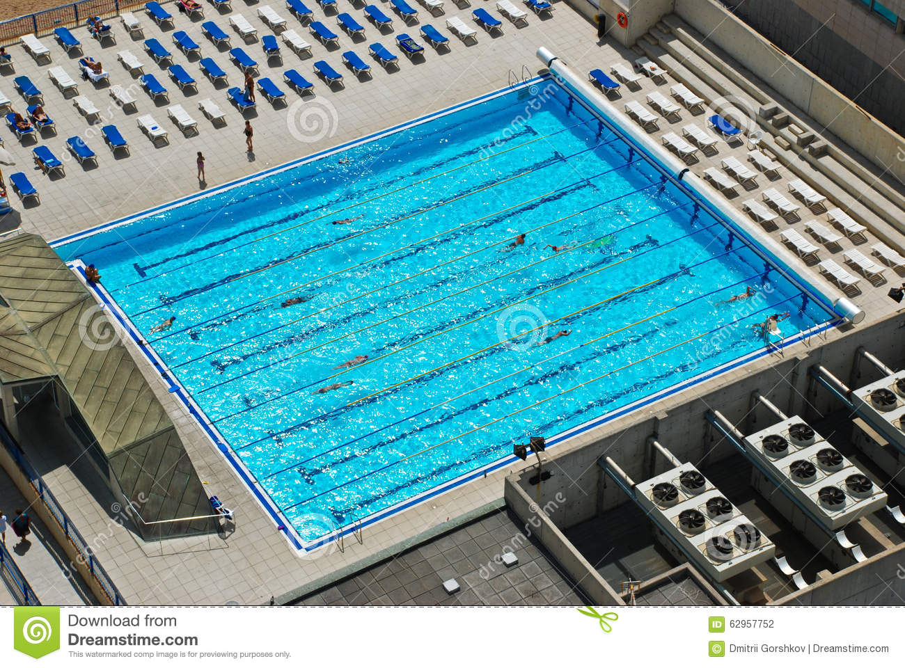 royalty free stock photo - Rectangle Pool Aerial View