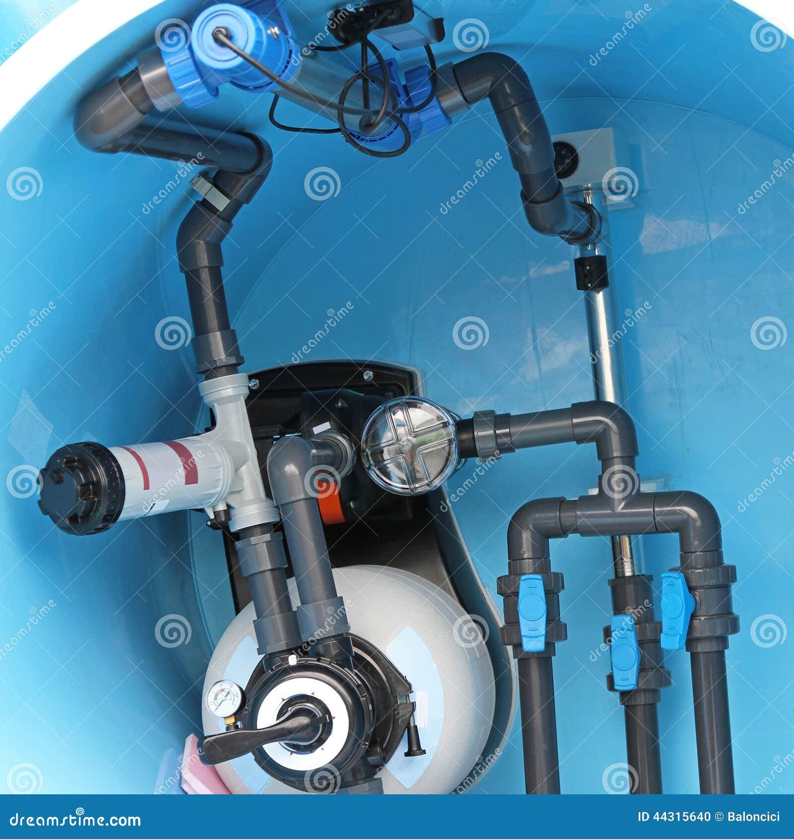 Swimming Pool Plumbing Fittings : Swimming pool plumbing stock photo image