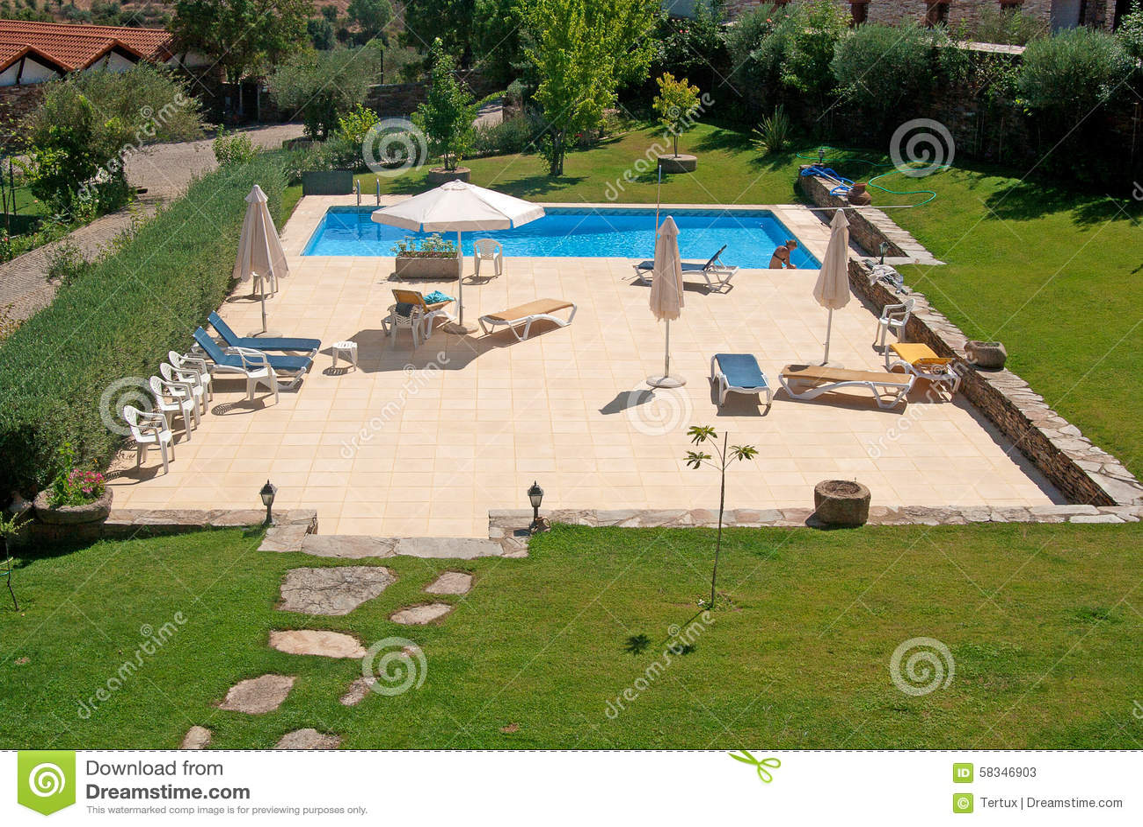 Swimming Pool Stock Photo Image 58346903