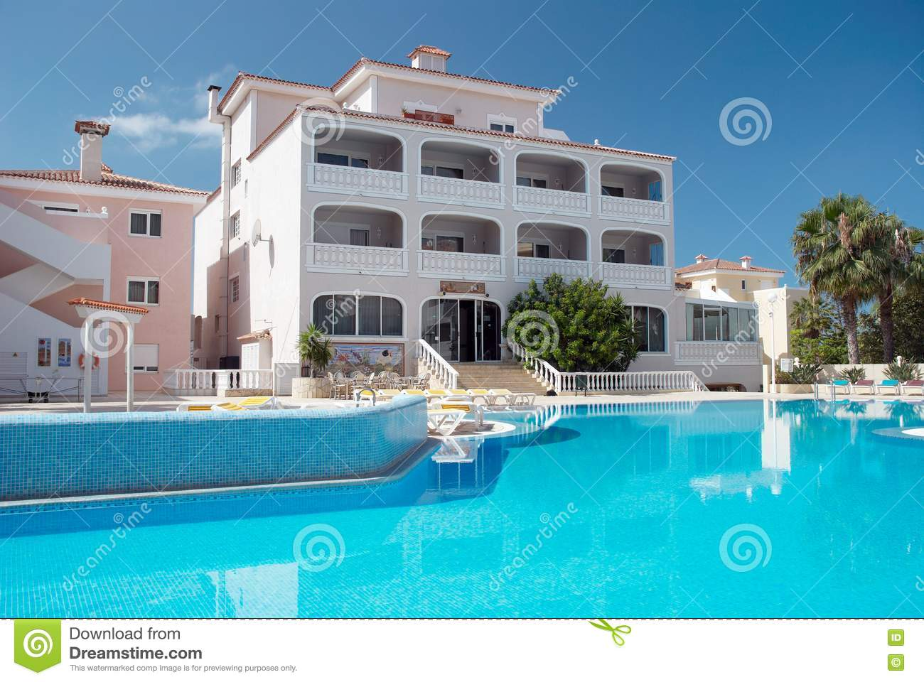 Swimming pool recreation area stock photo image 14968980 for Hotel design canaries