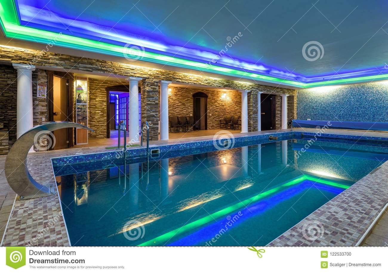 Swimming Pool In Residential House Or Hotel Editorial Image ...