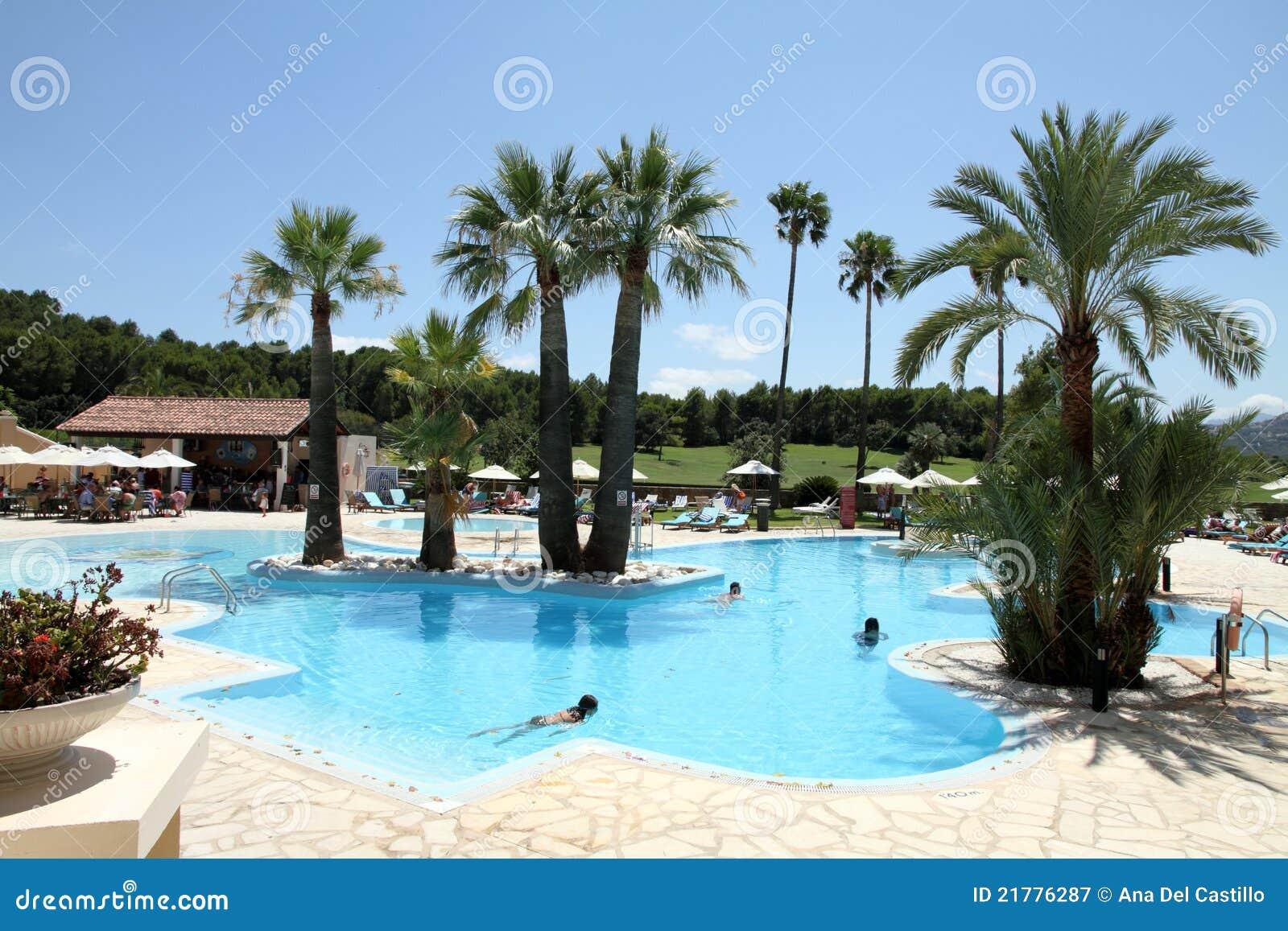 Swimming pool resort denia alicante spain stock image - Hotels in madrid spain with swimming pool ...