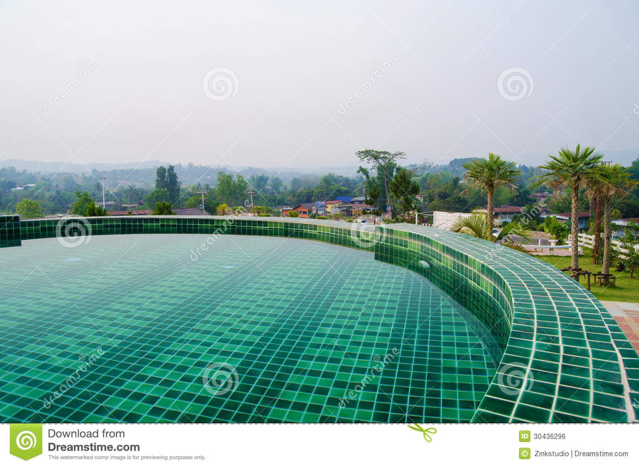 Swimming Pool In Resort Royalty Free Stock Image - Image ...