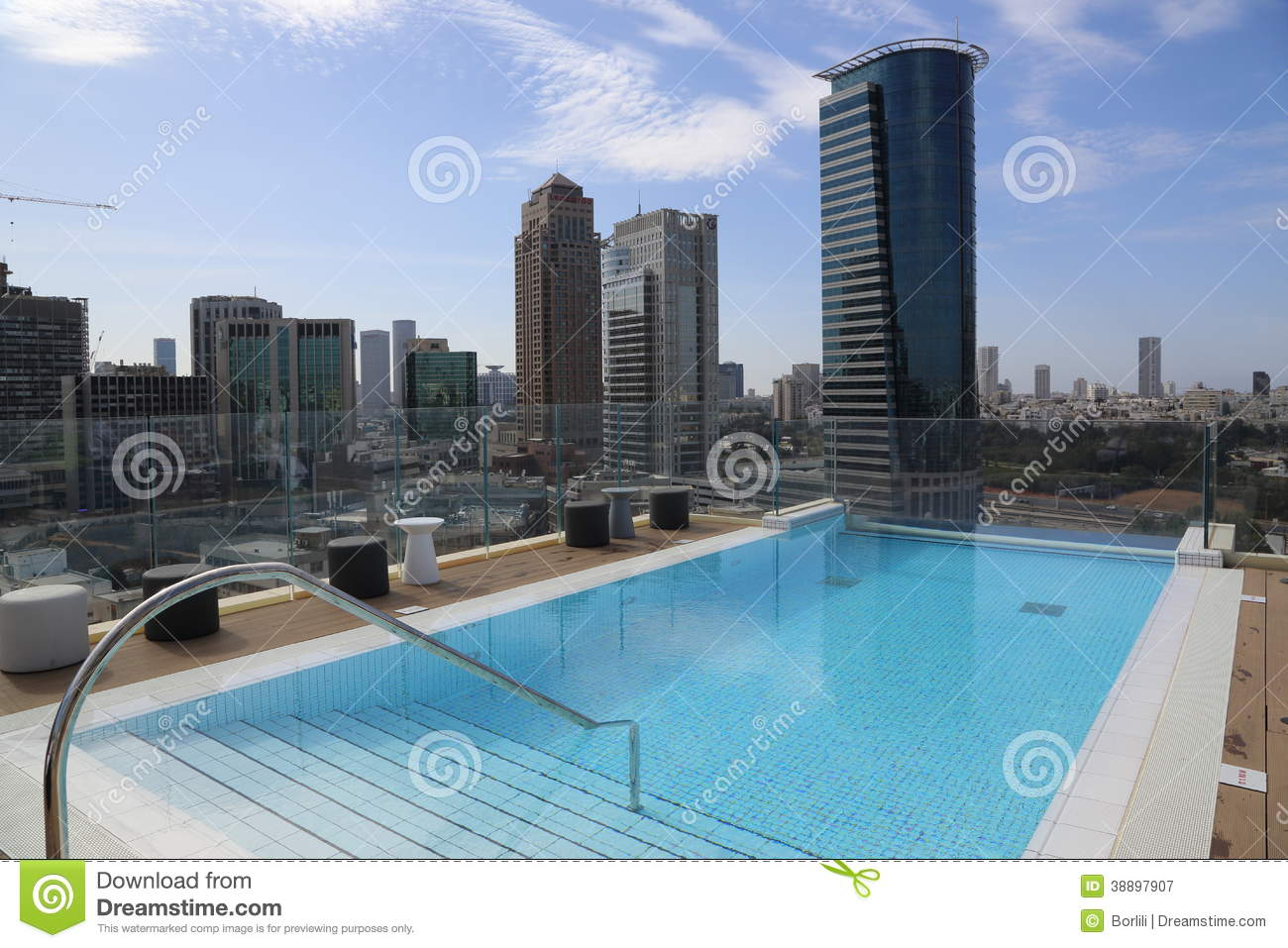 Swimming pool on the roof of a skyscraper editorial - Swimming pool on top of skyscraper ...