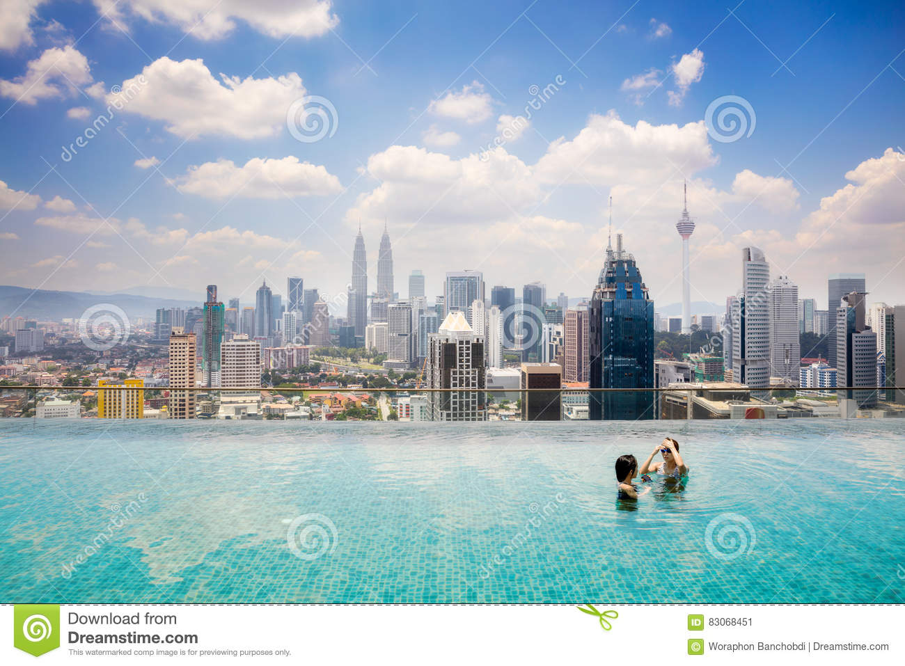 Swimming Pool On Roof Top Stock Photo Image 83068451
