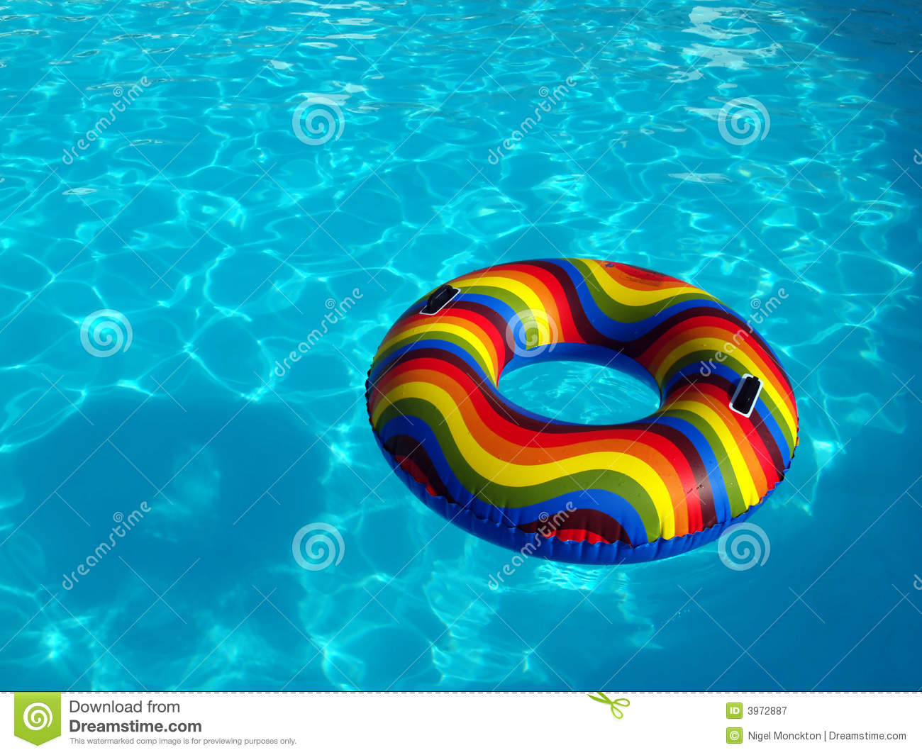 Swimming Pool With Rubber Ring Stock Image Image 3972887