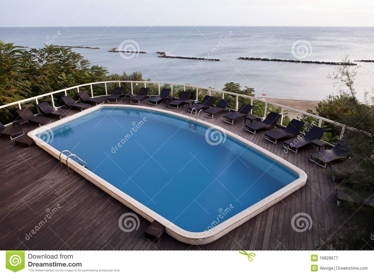 Swimming Pool On The Sea Royalty Free Stock Photography Image 16828677